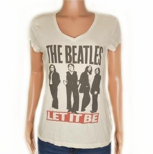 The Beatles Let It Be V-Neck Graphic Band Tee
